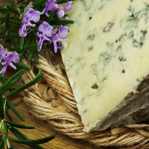 A close up of Lanark Blue Cheese
