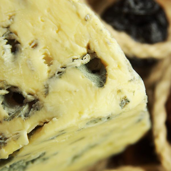 A close up of Mrs Bell's Blue Cheese