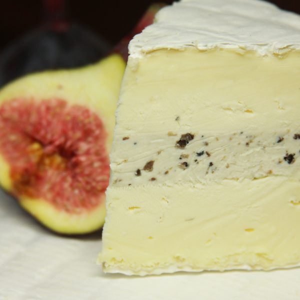 Truffle Brie Cheese Close Up