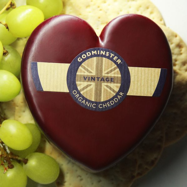 Godminster Organic Cheddar Truckle Cheese Heart