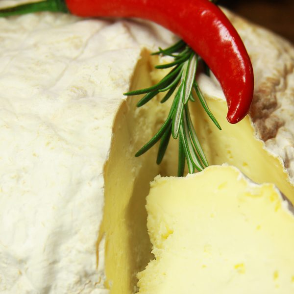 A close up of Rustic Sharpham Cheese