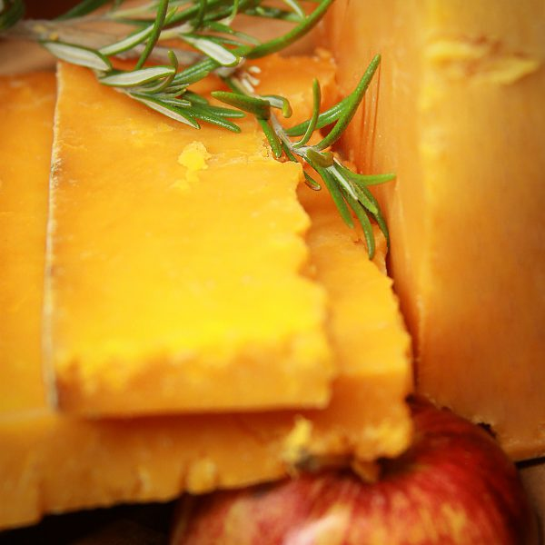 A close up of Sparkenhoe Red Leicester