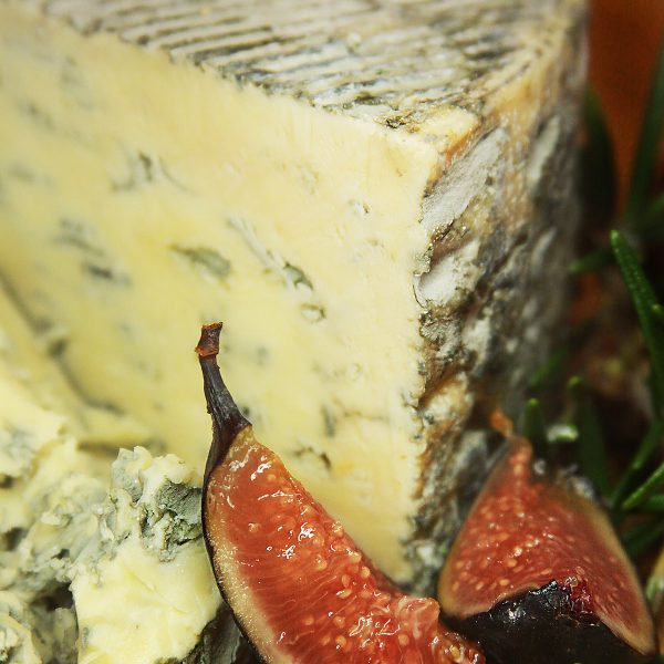 A close up of Blue D'Auvergne Cheese