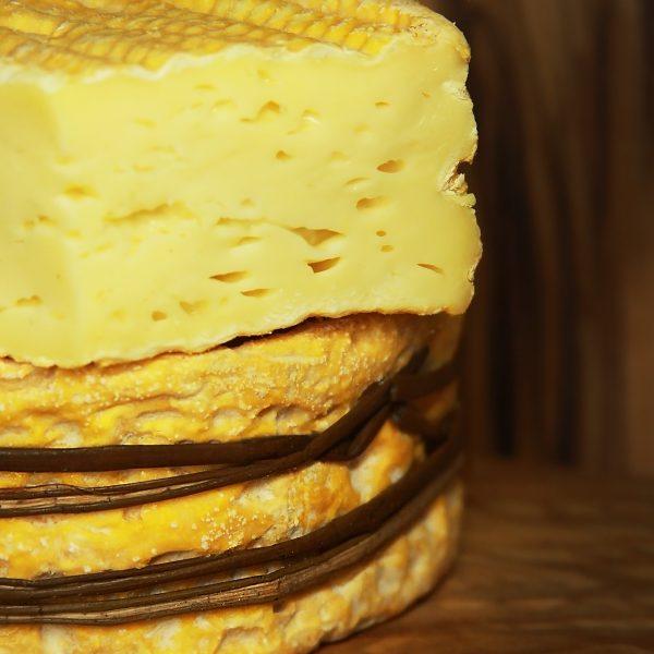 A close up of Livarot A.O.C Cheese