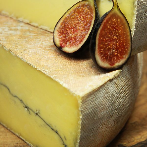 A close up of Morbier Cheese