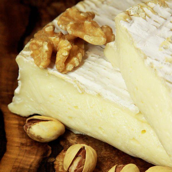A close up of Brie de Meaux Cheese