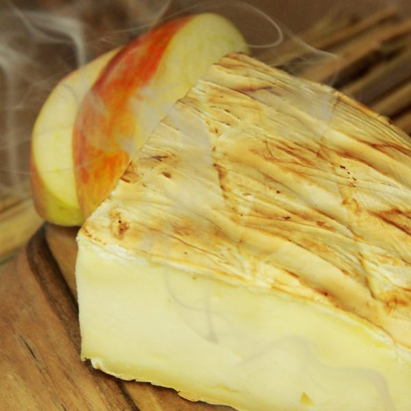 A close up of Smoked Brie Cheese