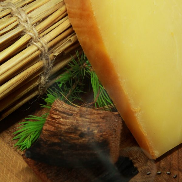 A close up of Smoked Gouda Cheese